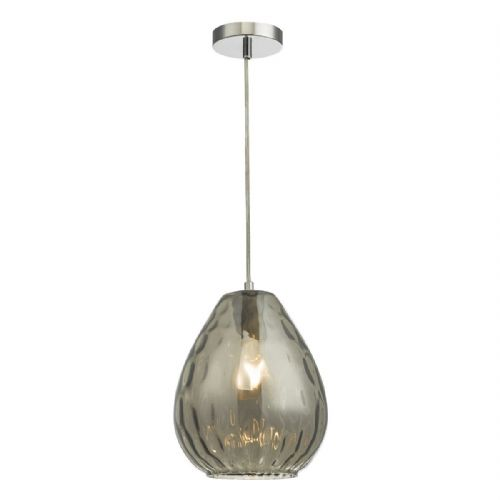 Apulia 1 Light Pendant Smoked Glass (Double Insulated) BXAPU0110-17